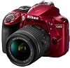 D3400 24.2 Megapixel, Full HD Video DSLR W/AF-P 18-55mm VR G Zoom Lens Kit - Red *FREE SHIPPING*
