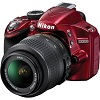 D3200 24.2 Megapixel HD Video,Wi-Fi Compatibility DSLR W/AF-S 18-55mm VR Zoom Lens Kit - Red *FREE SHIPPING*