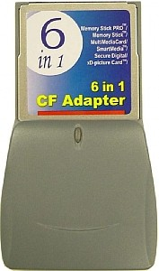 6-In-1 Compact Flash Card Adapter (Including Xd Cards) *FREE SHIPPING*