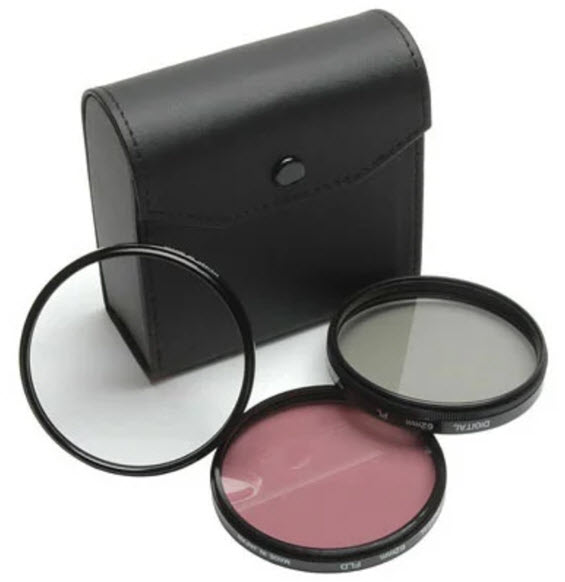 77mm 3 Piece Filter Kit (UV, Circular Polarizer & FLD Filters) *FREE SHIPPING*