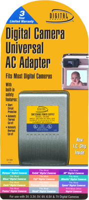 Multi Voltage Universal Ac Adapter For Digital Cameras
