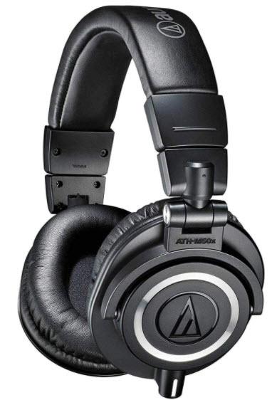 ATH-M50x Professional Monitor Headphones (Black)