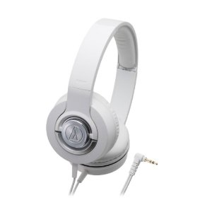 Solid Bass ATH-WS33X Closed-back Dynamic Headphones, White *FREE SHIPPING*