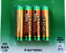AAA Batteries (4 Pack) *FREE SHIPPING*