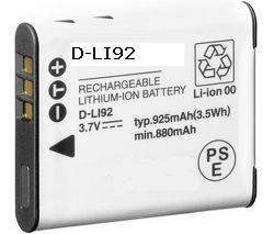 D-Li92 Rechargable Lithium Ion Battery Pack For Optio X-70