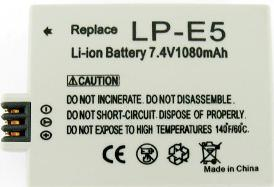 LP-E5 Lithium-Ion Battery Pack For EOS Rebel Xsi Digital SLR Camera