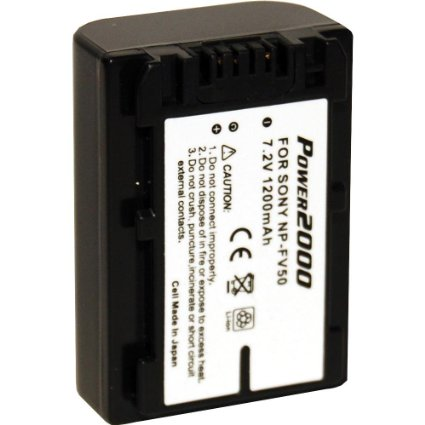 ACD769 Replacement Lithium-Ion 7.2v, 1200mAh Camcorder Battery for Sony NPFV50