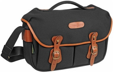 Hadley Pro Camera Shoulder Bag - Black with Tan Leather Trim *FREE SHIPPING*