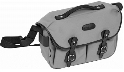 Hadley Pro Camera Shoulder Bag - Gray with Black Leather Trim *FREE SHIPPING*