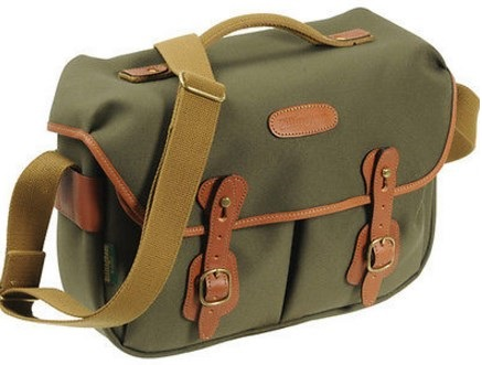 Hadley Pro Camera Shoulder Bag - Sage FibreNyte with Tan Leather Trim *FREE SHIPPING*