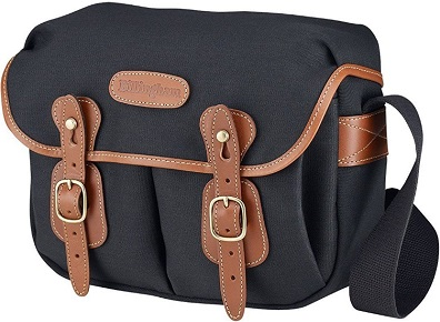 Hadley Small Camera Shoulder Bag - Black with Tan Leather Trim *FREE SHIPPING*