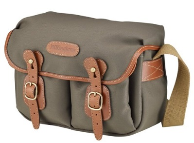 Hadley Small Camera Shoulder Bag - Sage FibreNyte with Tan Leather Trim *FREE SHIPPING*