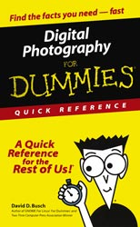 Digital Photography For Dummies - Quick Reference By David D. Busch
