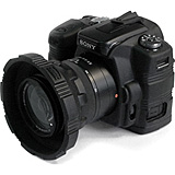 CA-1116blk Camera Skin For Sony Alpha A-100 Digital SLR - Black