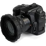 CA-1116blk Camera Skin For Sony Alpha A-100 Digital SLR - Black