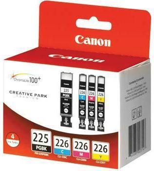 PGI225BK/CLI226C,M,Y 4-Color Value Pack