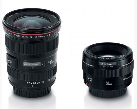 Advanced Two Lens Kit with 50mm f/1.4 and 17-40mm f/4L Lenses *FREE SHIPPING*