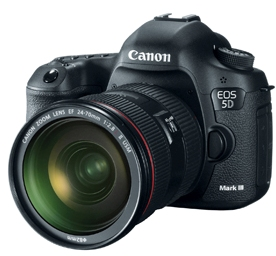 EOS 5D Mark III (3) Full Frame 22.3 Megapixel, 3.2 Inch ClearView Hi-Res LCD Screen, Full HD VideoPro Digital SLR Camera w/EF 24-105mm L IS Zoom Lens Kit *FREE SHIPPING*