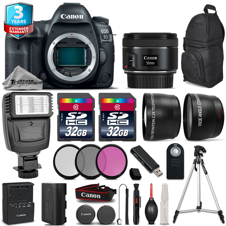 EOS 5D Mark IV Camera + 50mm + Flash + 64GB + Filter Kit +  2yr Warranty *FREE SHIPPING*