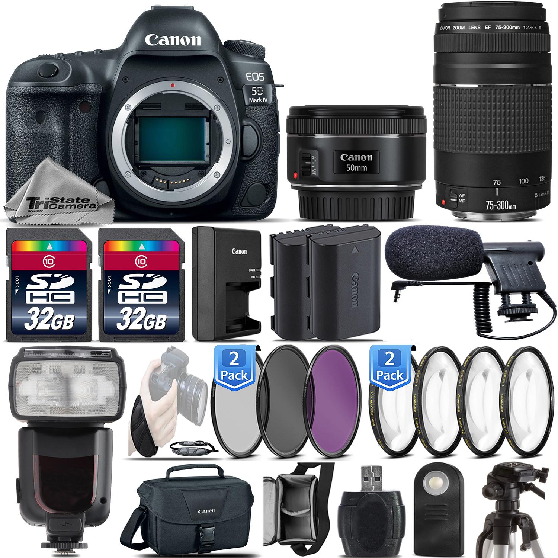 Canon 5d Mark Iv Dslr Full Frame Camera 50mm 18 Stm 75 Eos Body Only 4 300