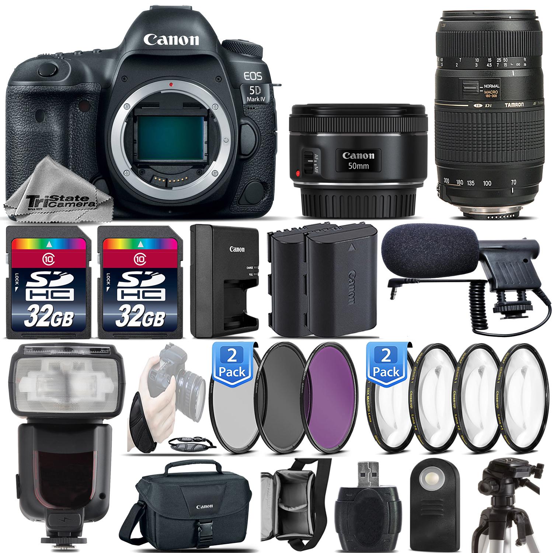 EOS 5D Mark IV DSLR Full Frame Camera + 50mm 1.8 STM + 70-300mm - 64GB Kit *FREE SHIPPING*