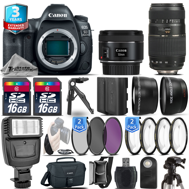 EOS 5D Mark IV Camera + 50mm + 70-300mm + EXT BAT + 32GB + 2yr Warranty *FREE SHIPPING*