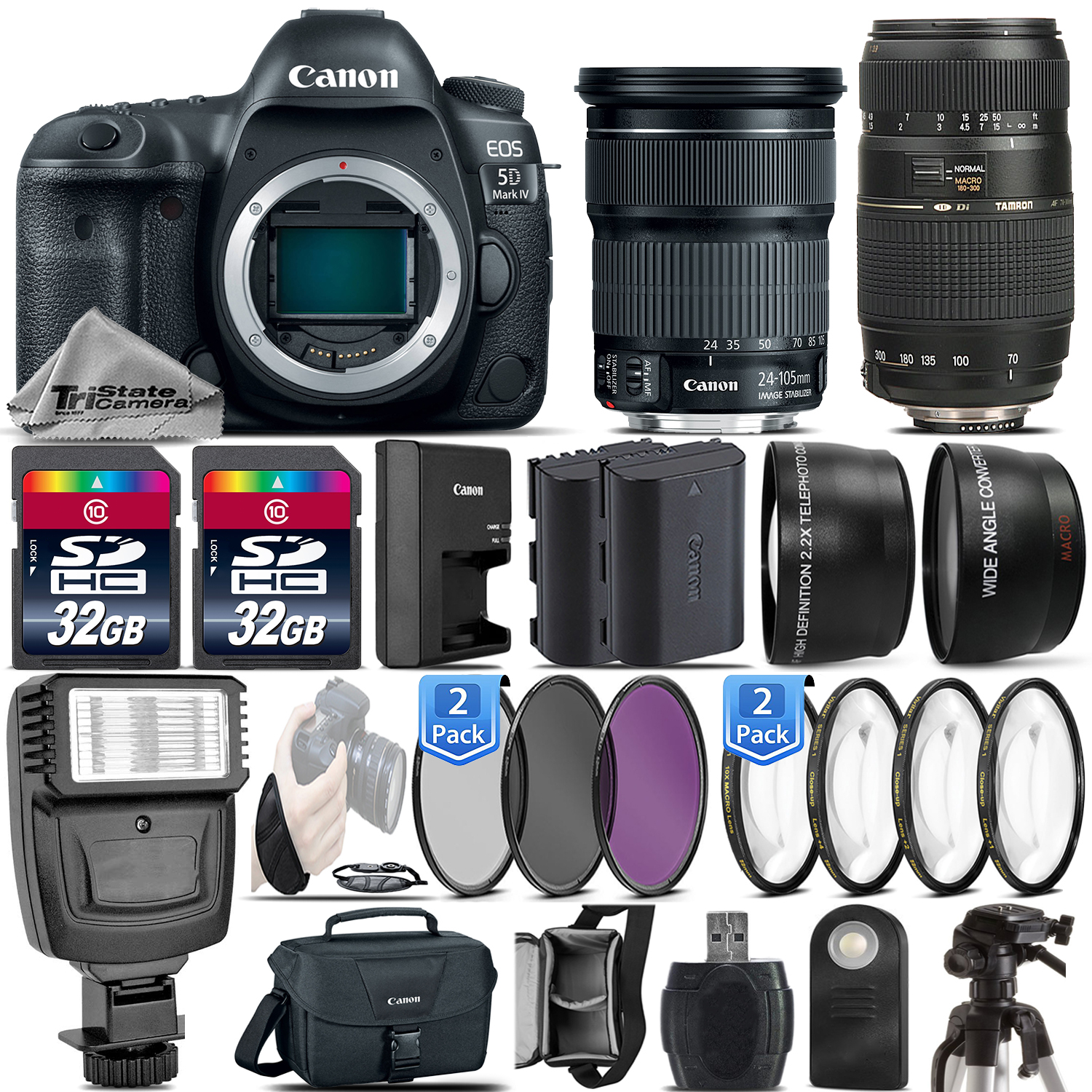 EOS 5D Mark IV DSLR Full Frame Camera + 24-105mm STM + 70-300mm - 64GB Kit *FREE SHIPPING*