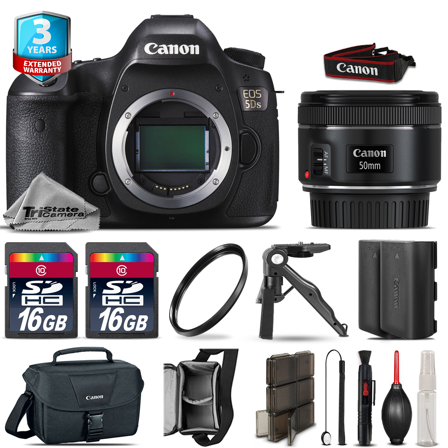 EOS  5DS DSLR Camera + 50mm 1.8 STM + Extra Battery + 32GB + 2yr Warranty *FREE SHIPPING*