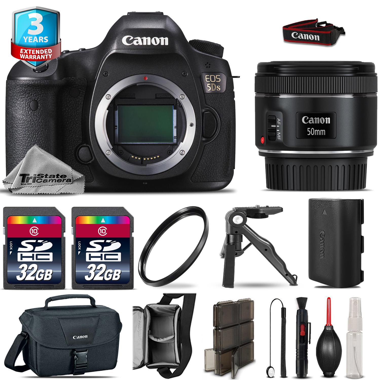 EOS 5DS DSLR Camera + 50mm 1.8 STM + 2yr Warranty + UV - 64GB Bundle Kit *FREE SHIPPING*