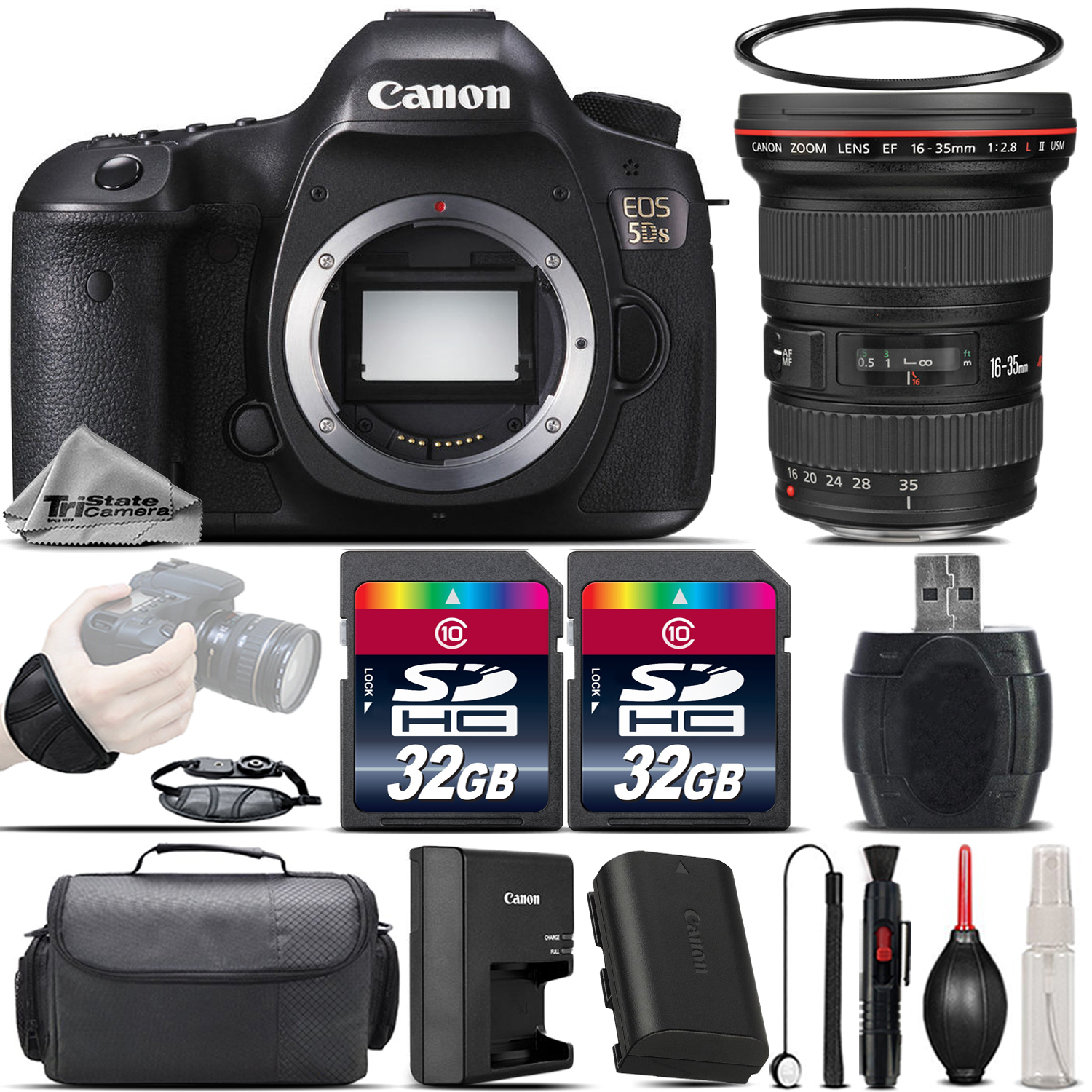 EOS 5DS Full Frame 50.6MP Camera + 16-35mm f/ 2.8 L II USM Lens - 64GB Kit *FREE SHIPPING*