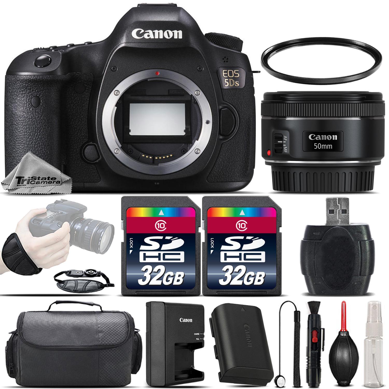 EOS 5DS DSLR Full Frame 50.6MP Camera +EF 50mm f/ 1.8 STM Lens - 64GB Kit *FREE SHIPPING*
