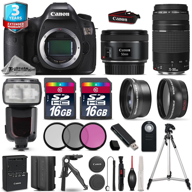 EOS  5DS DSLR Camera + 50mm STM + 75-300mm + 32GB + Flash + 2yr Warranty *FREE SHIPPING*
