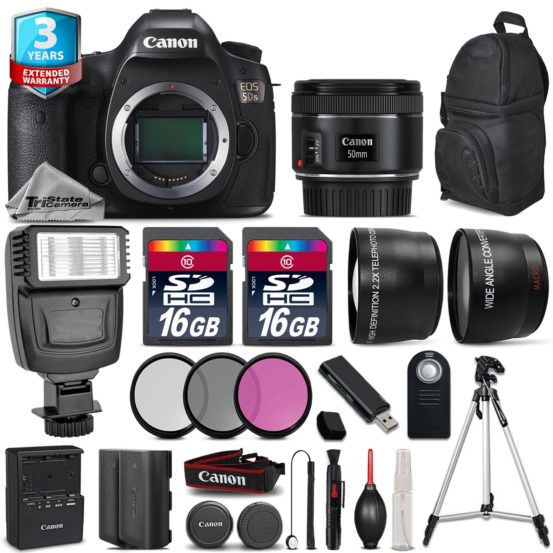 EOS 5DS DSLR Camera + 50mm 1.8  + Flash + 32GB + EXT BATT + 2yr Warranty *FREE SHIPPING*