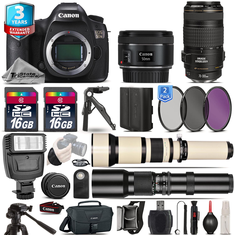 EOS 5DS DSLR Camera + 50mm 1.8 STM + 70-300mm + EXT BATT + 2yr Warranty *FREE SHIPPING*