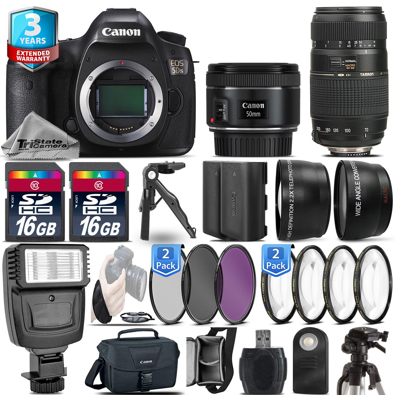 EOS 5DS Camera + 50mm 1.8 + 70-300mm + EXT BAT - 32GB Kit  + 2yr Warranty *FREE SHIPPING*