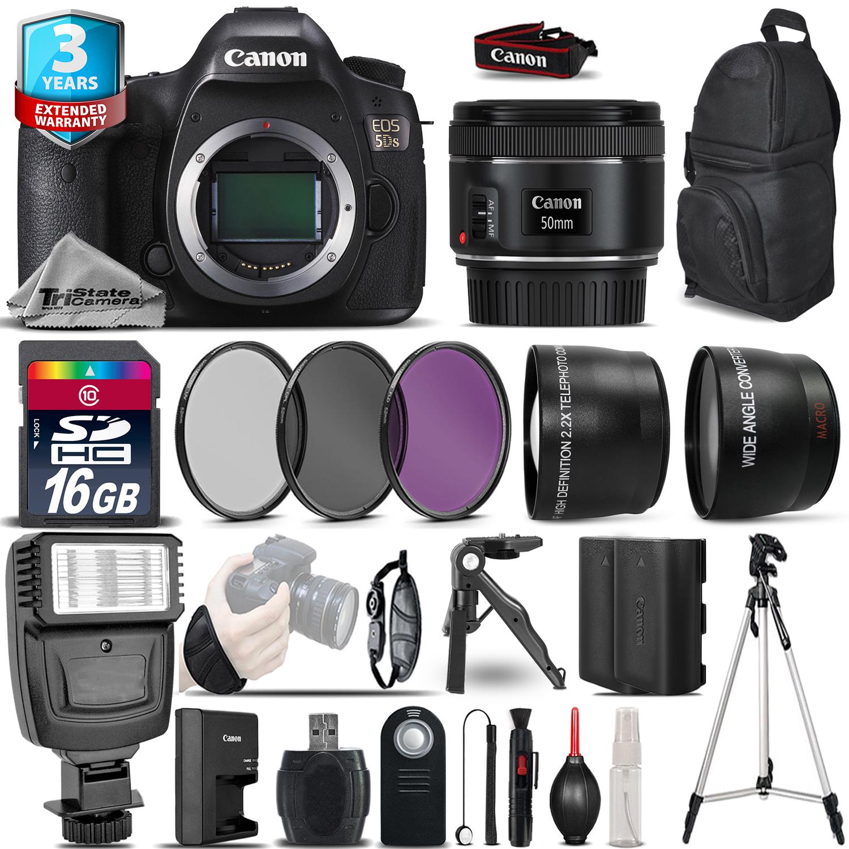 EOS 5DS DSLR Camera + 50mm 1.8 STM  + 2yr Warranty -Ultimate Saving Bundle *FREE SHIPPING*
