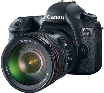 EOS 6D Full Frame 20.2 Megapixel, 3.0 Inch LCD Screen, Built-in Wi-Fi & GPS, Full HD Video DSLR w/EF 24-105mm IS USM Zoom Lens Kit *FREE SHIPPING*