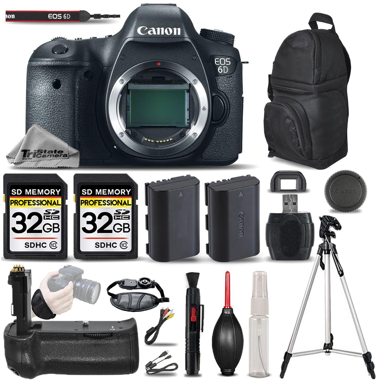 EOS 6D Digital Camera. 64GB STORAGE + EXT BATT + BATT GRIP + WRIST GRIP *FREE SHIPPING*