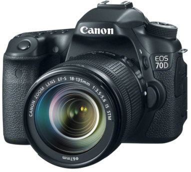EOS 70D 20.2 MP, 3.0 Inch Vari-Angle Touchscreen LCD, Full HD Video DSLR Camera with EF-S 18-135mm STM Lens *FREE SHIPPING*