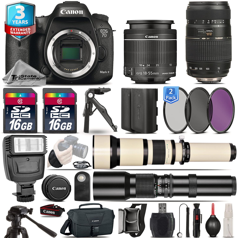 EOS 7D Mark II DSLR Camera + 18-55mm IS + 70-300mm + EXT BAT +3yr Warranty *FREE SHIPPING*