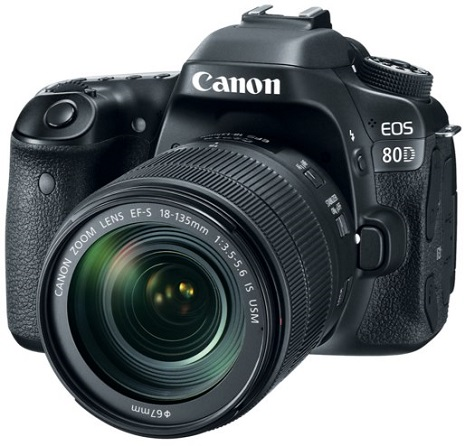 EOS 80D 24.2 MP, 3.0 Inch Vari-Angle Touchscreen LCD, Full HD Video DSLR Camera with EF-S 18-135mm IS USM Lens *FREE SHIPPING*