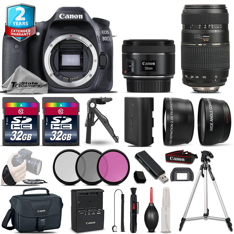 EOS 80D 24.2MP DSLR Camera + 50mm 1.8  STM & 70-300mm Lens + 2yr Warranty *FREE SHIPPING*