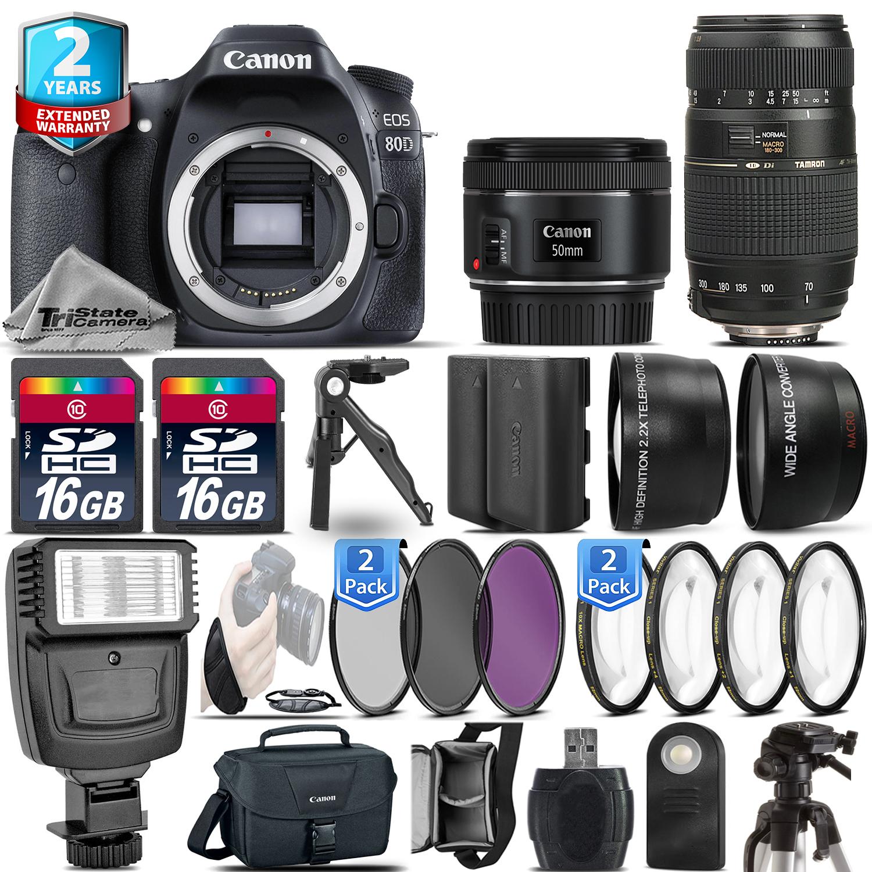 EOS 80D Camera + 50mm 1.8 + 70-300mm + EXT BAT - 32GB Kit  + 2yr Warranty *FREE SHIPPING*