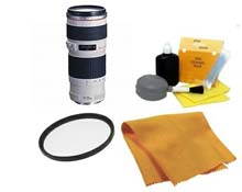EF 70-200/4.0 L USM  Telephoto Zoom Lens (67mm) • 67 UV Filter • Lens Cleaning Kit • Anti Static Cloth *FREE SHIPPING*