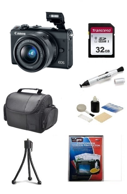 EOS M100 24.2 MP, UHD 4K Video w/EF-M 15-45mm - Essential Kit - Black *FREE SHIPPING*