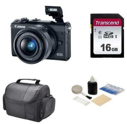 EOS M100 24.2 MP, UHD 4K Video w/EF-M 15-45mm - Value Kit - Black *FREE SHIPPING*