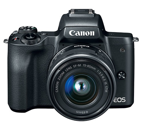 EOS M50 24.2 MP w/EF-M 15-45mm f/3.5-6.3 IS STM Lens Mirrorless Digital Camera Kit - Black *FREE SHIPPING*
