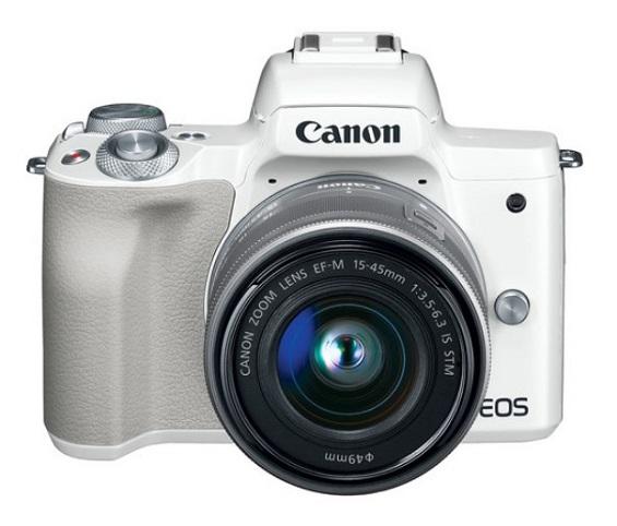 EOS M50 24.2 MP w/EF-M 15-45mm f/3.5-6.3 IS STM Lens Mirrorless Digital Camera Kit - White *FREE SHIPPING*