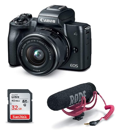 EOS M50 w/15-45mm f/3.5-6.3 Lens Mirrorless Digital Camera Video Creator Kit - Black *FREE SHIPPING*