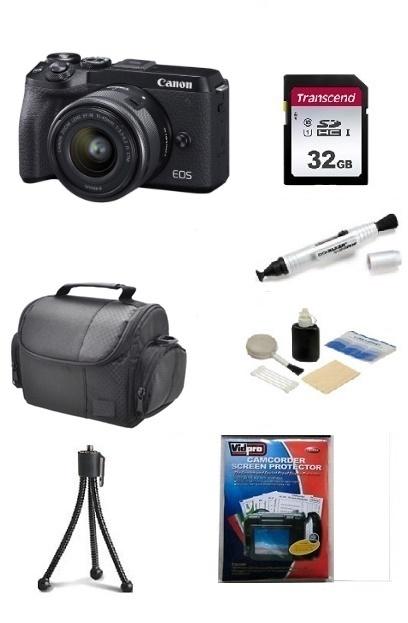 EOS M6 Mark II 32.5 MP, UHD 4K Video w/EF-M 15-45mm - Essential Kit - Black *FREE SHIPPING*